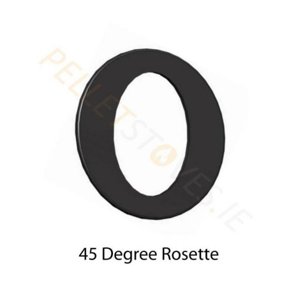 45° Matt black painted Rosette Plate
