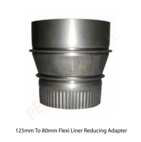 125mm to 80mm flexi reducing adaptor