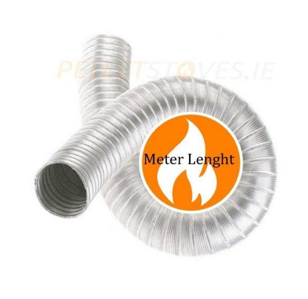 1mt length 316L grade stainless steel double skin flexible liner