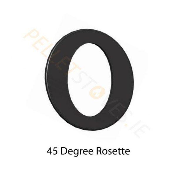 45° Matt black painted Rosette Plate