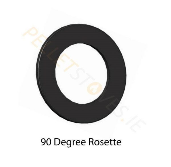 90° Matt black painted Rosette Plate