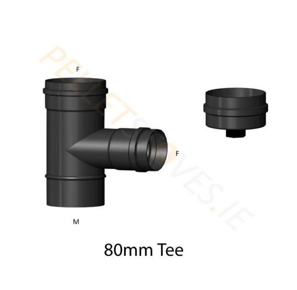 90 Degree Tee and Tee Cap with Drain