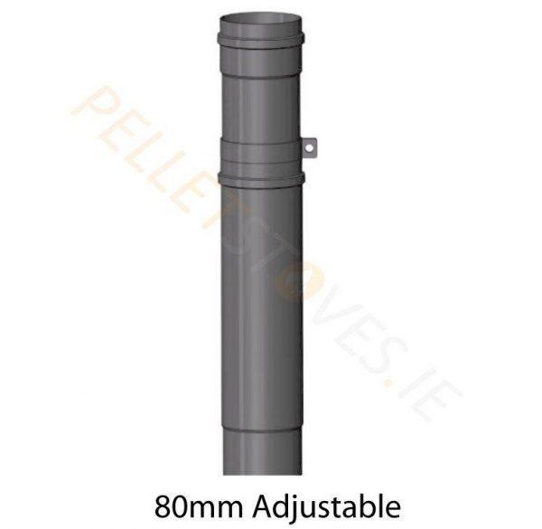 80mm Adjustable 350-580mm flue pipe