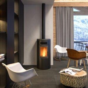 Dual-9-Super ventilated wood pellet stove