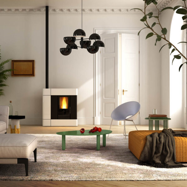 Elettra natural convection and ventilated wood pellet stove