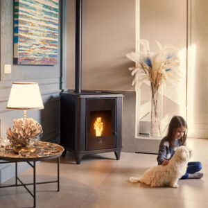 Luna natural convection and ventilated wood pellet stove