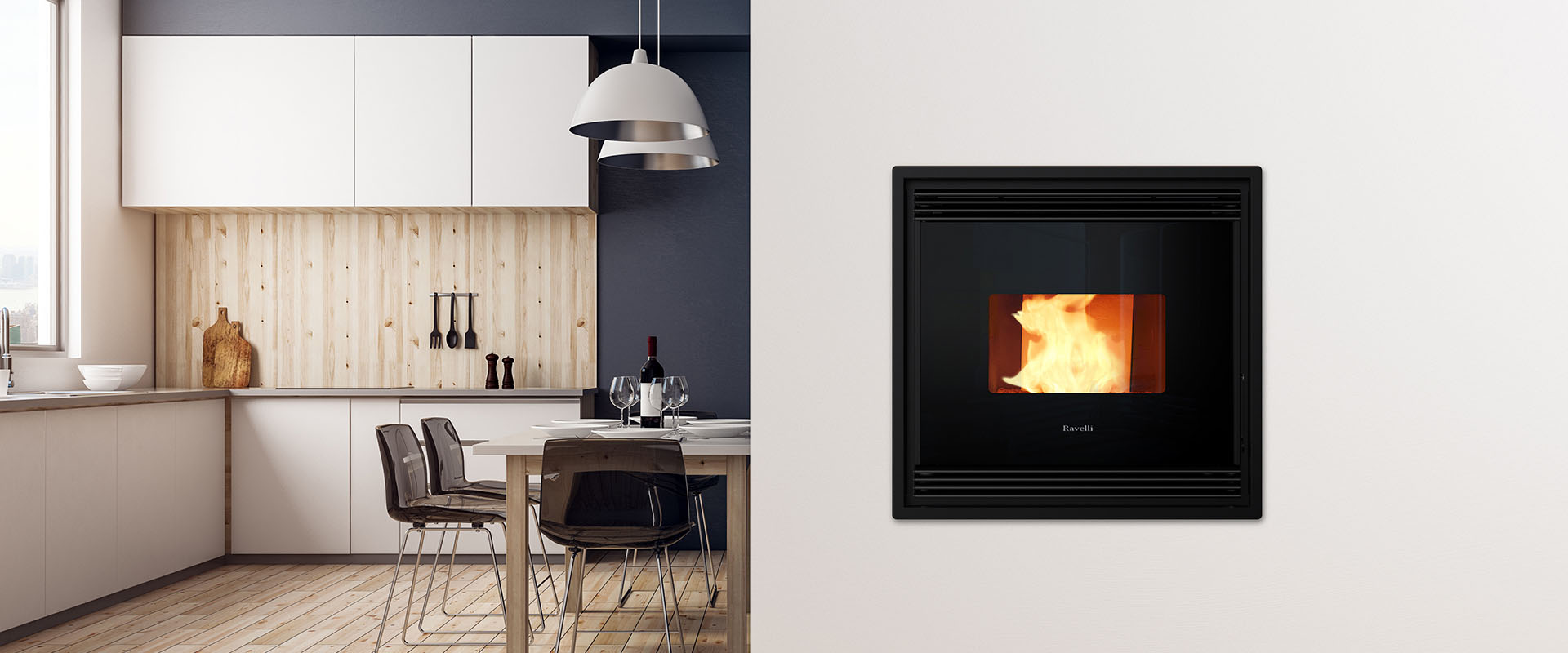 Smartheat - Air Pellet Stoves - Ravelli Air Pellet Stoves - Silence, the Perfect Stove - S90
