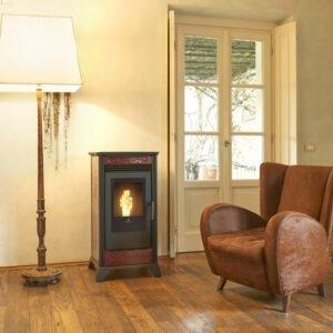 RV-80 ventilated wood pellet stove