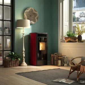 Sphere-V ventilated wood pellet stove