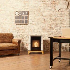 Aria natural convection wood pellet stove