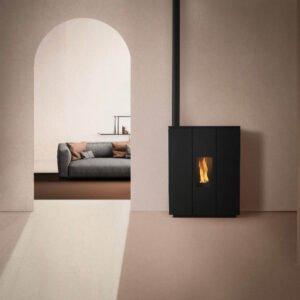 Silhouette-180V slimline wood pellet boiler stove