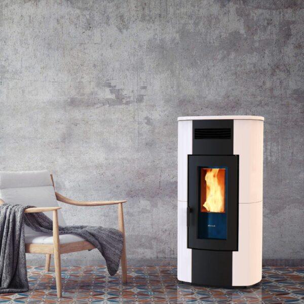 HRV-200 wood pellet boiler stove