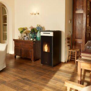 HRV-100 Touch wood pellet boiler stove