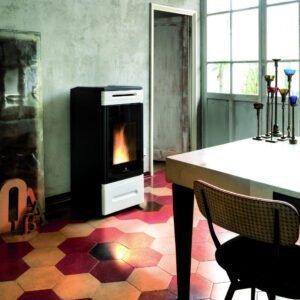 HRV-140 Touch wood pellet boiler stove
