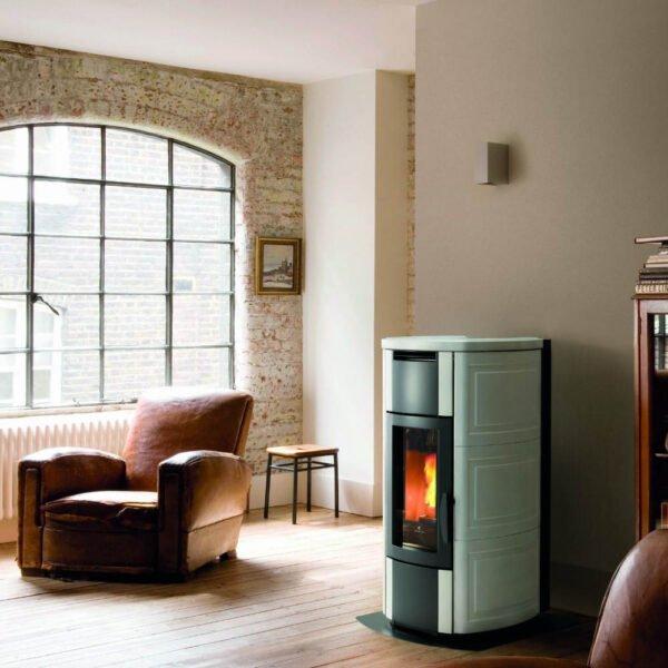 HRV-160 wood pellet boiler stove