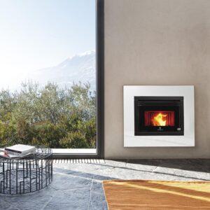 R1000 insert ventilated pellet stove