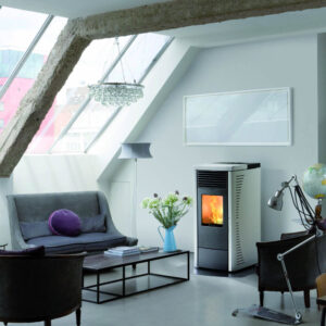 RC-70 ducted wood pellet stove