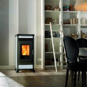 RV-110 ventilated wood pellet stove