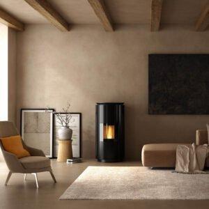 HRV-160 Design wood pellet boiler stove