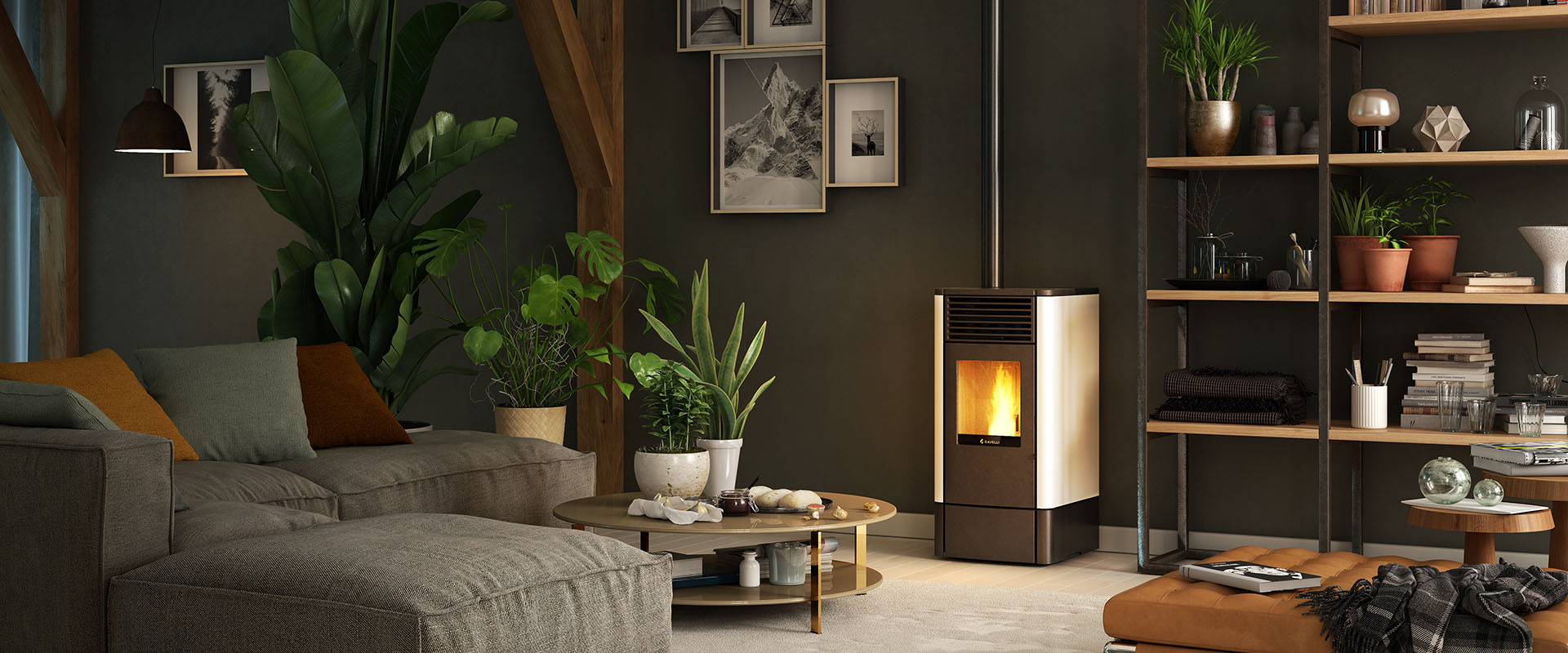 Smartheat - Ducted Pellets Stoves - Ravelli Flow Pellet Stoves - For uniform circulation of the heat