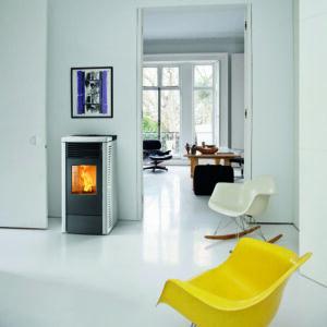 R-70 ventilated wood pellet stove