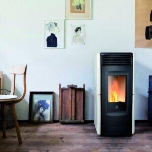 Victoria ventilated wood pellet stove